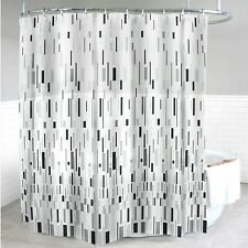 "New Splash Home Grey bars Shower Curtain 70 x 72"" Metal Grommets"