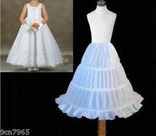 New 3 HOOP flower girl skirt party wedding petticoat slips underskirt crinoline