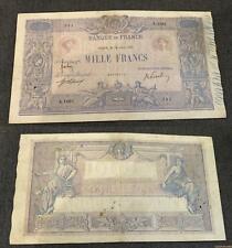 1000 Francs Bleu et Rose Type 1889  - 14/06/1917 A.1061 TB TTB