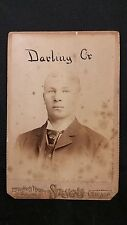 1890 Studio Cabinet CONRAD DELL DARLING -Chicago Club Players League Great image
