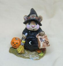 Collectibles, Wee Forest Folk, Halloween Witch Mouse, Signed