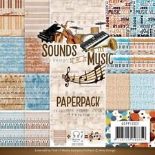 MUSIC Scrapbooking 6x6 inch Paper Pack Amy Design 23 Sheets ADPP10021 NEW