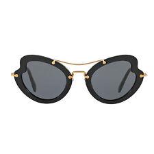 Occhiale da sole Miu Miu MU11RS 1AB1A1 nero black sunglasses nuovo new donna