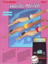 Water Match Arcade FLYER Original Bally Midway 1984 Retro Video Game Artwork