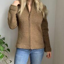 Lauren Ralph Lauren Caridigan Full Zip Houndstooth Sweater Wool M Medium