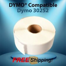 Labels 30252 White Paper Rolls Compatible w/ Dymo® LabelWriter® Twin Turbo Duo