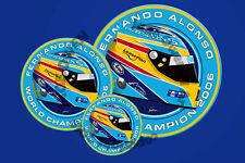Fernando Alonso campeón 06 F1 Casco Pegatina ilustración Digital De Alta Calidad