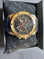 BULOVA Marine Star Rose Gold 98B104 Chronograph Mens Watch
