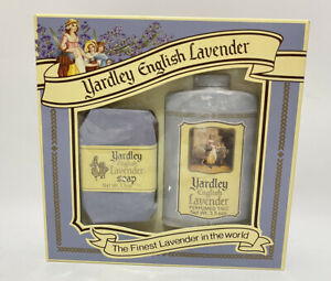 Vintage Yardley English Lavender Gift Set Perfumed Soap & Talc Powder NOS