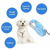 16 Ft Auto Retractable Dog Leash Stop Lock Small Medium Big Dogs Pet Leads Train