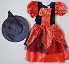 Girls Witch & Hat~ Fancy Dress Up Costume Outfit ~Age 7-8 Years~ BNWT~HALLOWEEN
