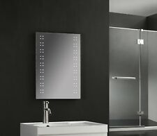 700 x 500mm 80 LED Illuminated Touch Bathroom Mirror Demister Shaver Socket IP44