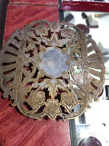Vintage Wallace Silverplate Floral Detailed Footed Stand