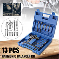 13PCS HARMONIC BALANCER KIT GEAR PULLEY PULLER STEERING WHEEL CRANKSHAFT