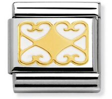 nomination charm Hearts With White Enamel RRP £25