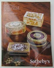 SILVER VERTU & RUSSIAN ART SOTHEBY'S AUCTION CATALOG 2013 New York