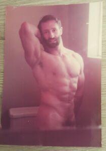 Vintage Photo Beefcake Bearded Man Muscles Gay Interest