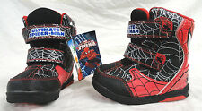 MARVEL ULTIMATE SPIDERMAN, TODDLER BOYS WINTER BOOTS SIZE 6, NEW FREE SHIPPING