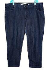 30176dfefadba Jones New York Jeans Womens 22 Soho Ankle Dark Wash Straight Leg