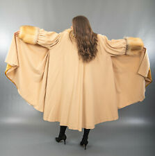 3435 AMAZING CASHMERE COAT SWINGER GOLDEN ICELAND FOX BEAUTIFUL LOOK SIZE 6XL