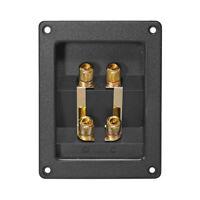 Dynavox Lautsprecher Anschlußterminal Doppelt ABS-Kunststoff vergoldete Kontakte