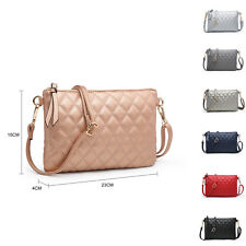 Woman Small synthetic leather Diamond-Quilted Messenger Cross Body Shoulder Bag