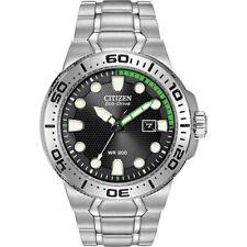 NEW Citizen BN0090-52E Men's Scuba Fin Eco-Drive Black Dial Stainless Steel Dive