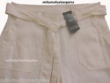 Womens Marks & Spencer White Linen Trousers Size 18 16 14 12 8 Long Med Shor 14 Short 28l