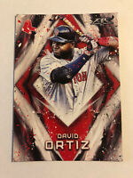 David Ortiz 2017 Topps Fire #35 Boston Red Sox
