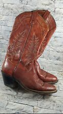 Vintage ACME Women's Burgundy Leather Western Cowboy Boots Size 6.5 N