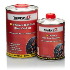 TechniQ Ultimate 2K Clear Lacquer Gloss Direct to Metal Application Alloy Wheels