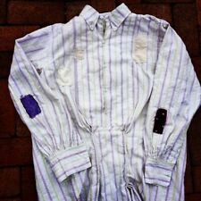 Late 1800s Early 1900s Patched French France Chemise Mens Shirt Workwear Cotton