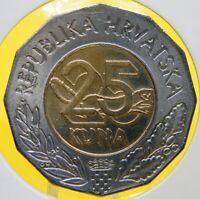 1997 Croatia 25 kuna - The First Croatian Esperanto Congress - Bi metallic