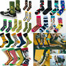 Men's Women Cool Colorful Fancy Novelty Funny Casual Combed Cotton Crew Socks