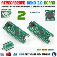 2PCS Nano V3.0 Compatible Board ATmega328P-MU for Arduino Micro USB Unsoldered