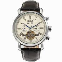 Tourbillon Luxury Men's Automatic Mechanical Leather Sports Multi-function Watch