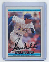 1992 BREWERS Paul Molitor signed card Donruss #51 AUTO Autographed HOFer Milwauk