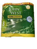 John West Tuna in Sunflower Oil Tins Foods Quality Fish - Pack of 8 Cans x 200g