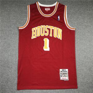 1# Tracy McGrady Houston Rockets 2004-05 Hardwood Classics Swingman Jersey Red