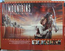 Patrick Bergin MOUNTAINS OF THE MOON(1990)Original  UK quad cinema poster