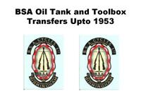 BSA Piled Arms Upto 1954 Oil Tank Toolbox Headstock Vinyl Cut Transfers