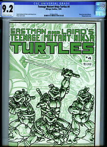 Teenage Mutant Ninja Turtles #4 (1985) Mirage Studios CGC 9.2 OW/W Eastman Laird