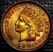 FROSTY 1904 RAINBOW INDIAN HEAD CENT R/B, BU,MS,MS FULL LIBERTY + 4 DIAMONDS #1