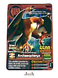 Animal Kaiser Evolution Evo Version Ver 6 Card (A103E: Archaeopteryx )