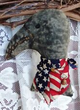 PRIMITIVE AMERICANA CROW ORNIE ~MAILED PATTERN~ ORNAMENT ~ QUICK AND EASY!!