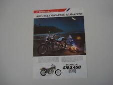 advertising Pubblicità 1987 MOTO HONDA CMX 450 REBEL