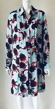 SEE BY CHLOE BLUE FLORAL LOOSE 2 PIECE SMOCK SHIRT DRESS 8UK 36EU 4US *NEW*