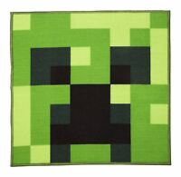 Official Minecraft 'Creeper' Rug 80 x 80 cm Square Bedroom Rug Matches Bedding