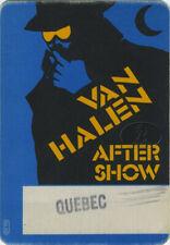 Van Halen 1984 Villain Backstage Pass Quebec Canada