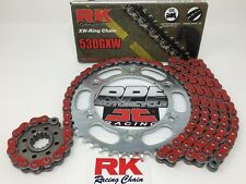 Red '02-13 Honda VFR800 RK GXW 530 Extreme Quick 15/44t Chain and Sprocket Kit